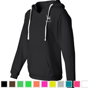 Jemicy Ladies Sueded V-Neck Hooded Sweatshirt