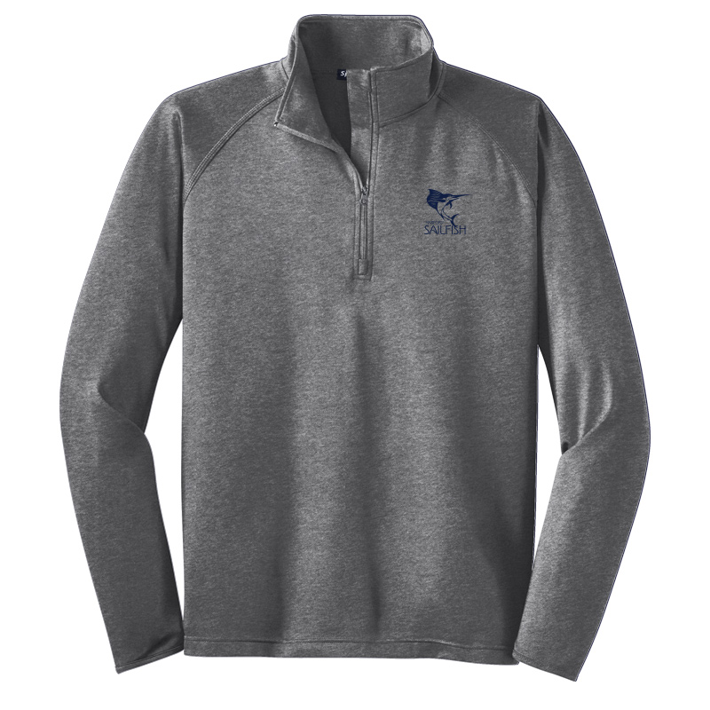 Harford Sailfish Mens Sport-Wick® Stretch 1/2-Zip Pullover - Charcoal Grey Heather