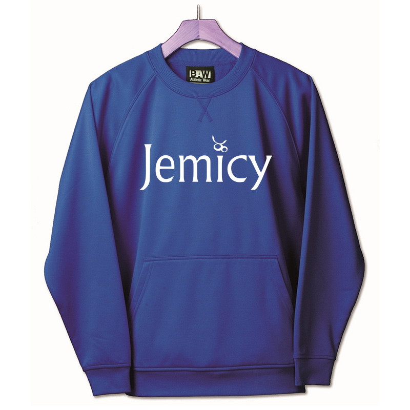 Jemicy Text Baw Adult Crewneck Sweatshirt  - Royal