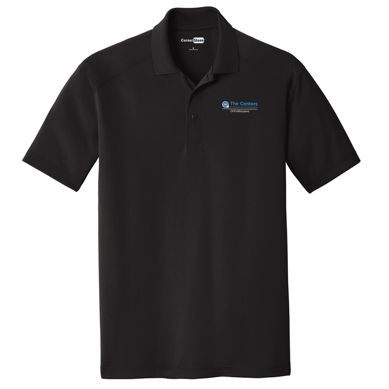 CAO OrthoMaryland Men's Performance Material Polo - Black
