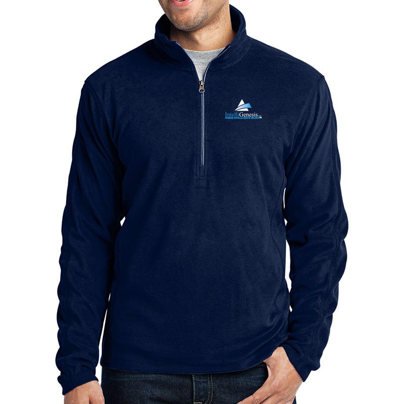 IntelliGenesis Port Authority Microfleece ½ Zip Pullover - True Navy