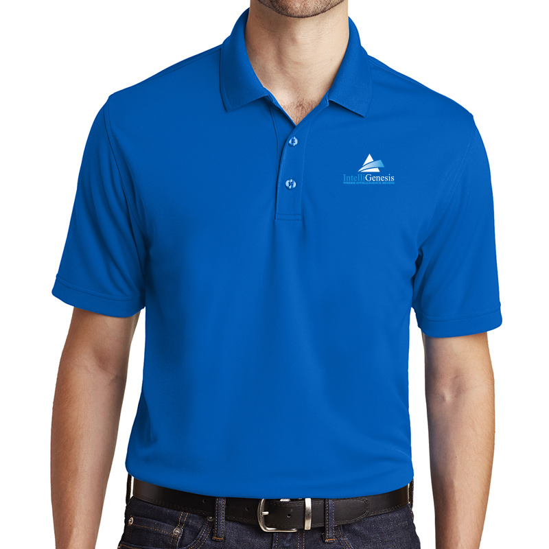 IntelliGenesis Port Authority Dry Zone UV Micro Mesh Polo  - True Royal