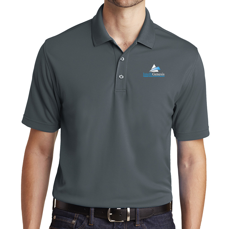 IntelliGenesis Port Authority Dry Zone UV Micro Mesh Polo  - Silver
