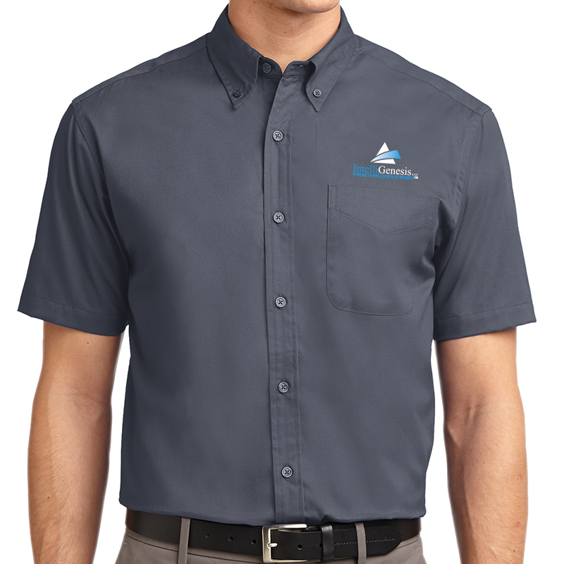 IntelliGenesis Port Authority Short Sleeve Easy Care Shirt - Steel
