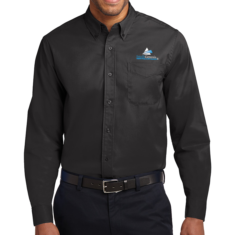 IntelliGenesis Port Authority Long Sleeve Easy Care Shirt - Black