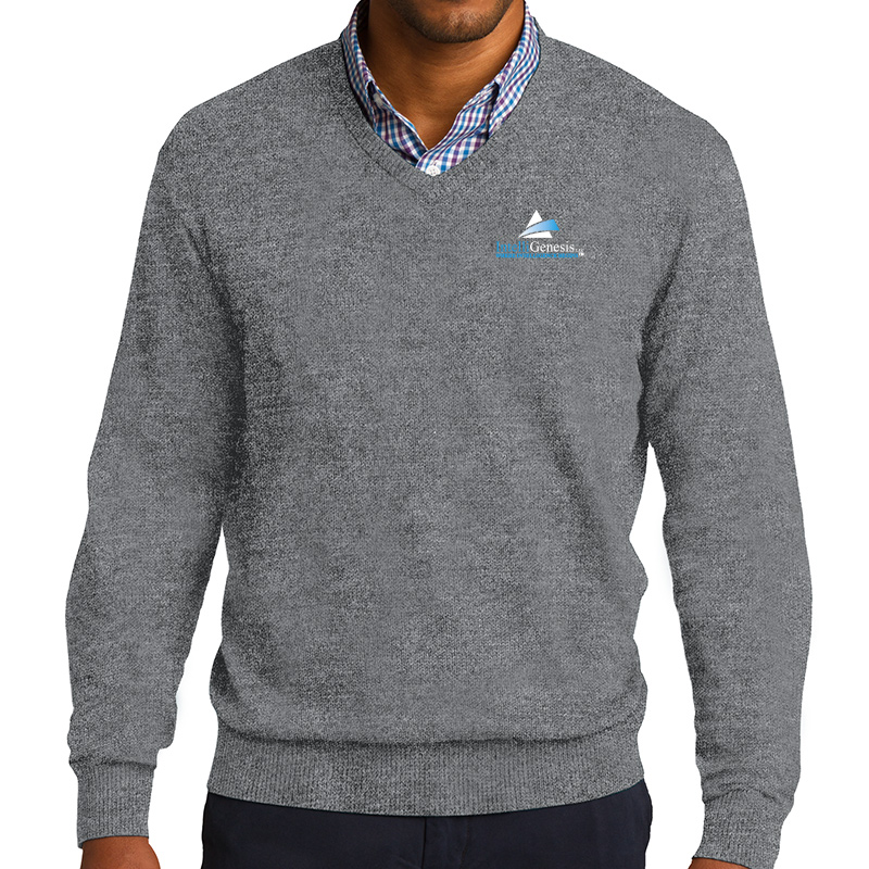 IntelliGenesis Port Authority V Neck Sweater - Grey