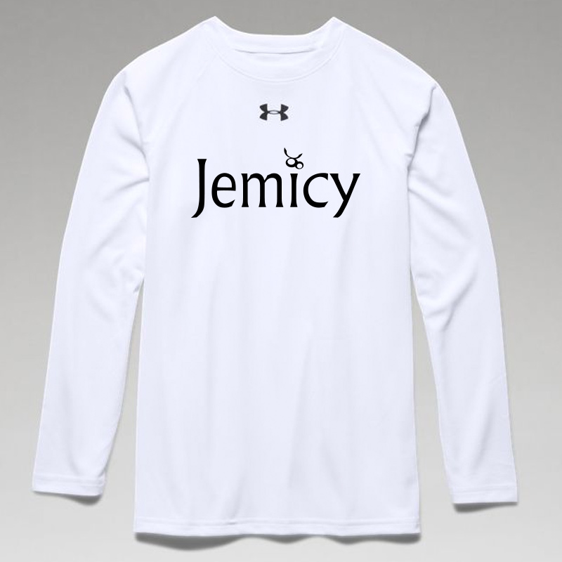 Jemicy Text Boys Ua Locker Tee Long Sleeve - White