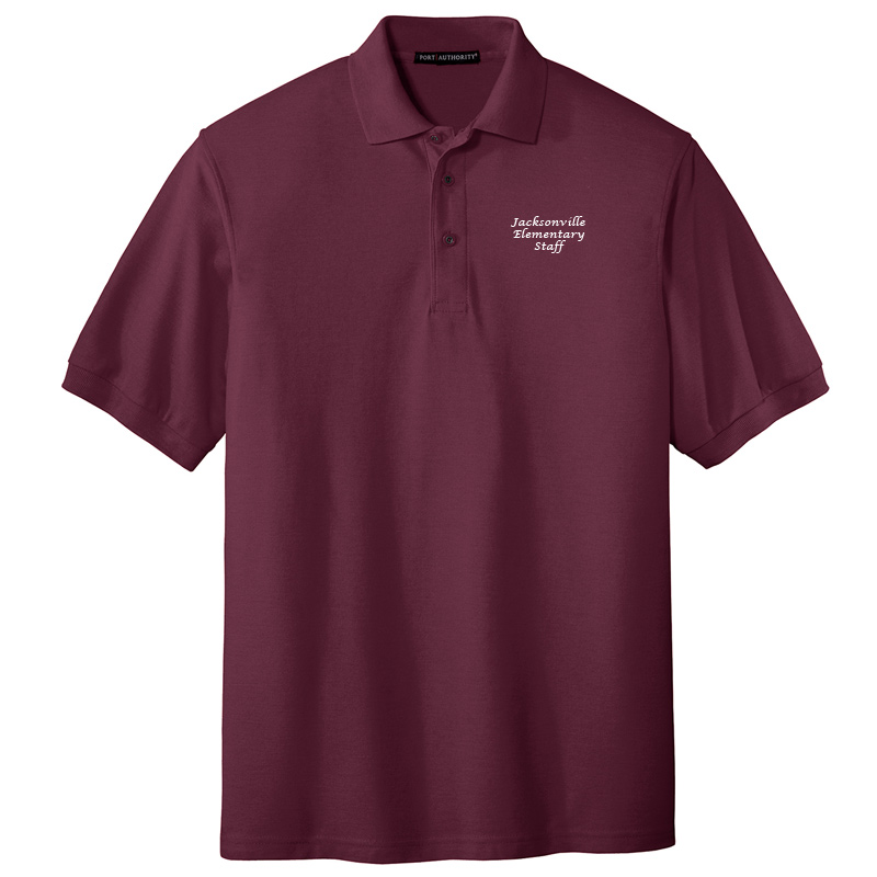 JES  Silk Touch Polo - Burgundy