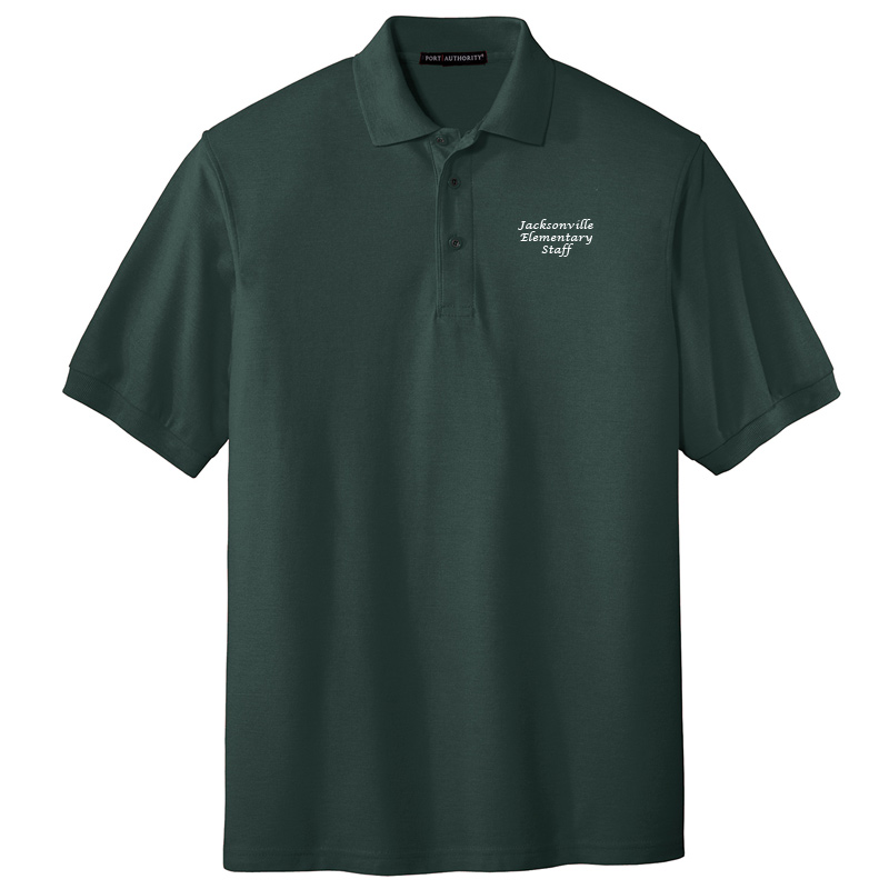 JES  Silk Touch Polo - Dark Green