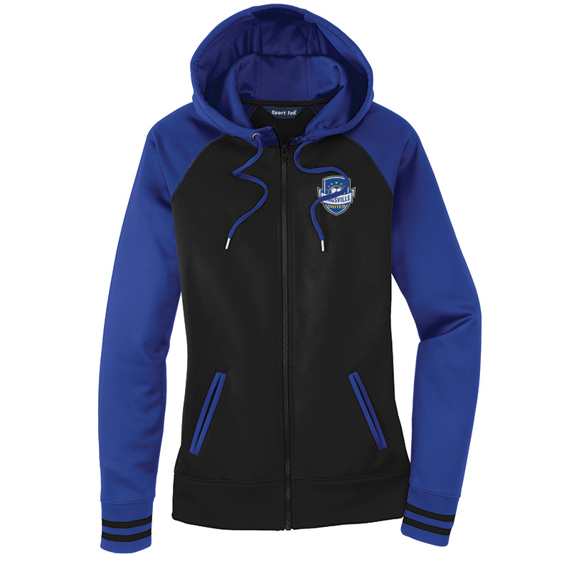 Kingsville United - Ladies Varsity Fleece Hooded Jacket