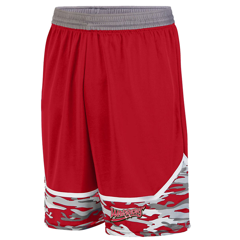 White Marsh Warriors Mod Camo Game Short-Red
