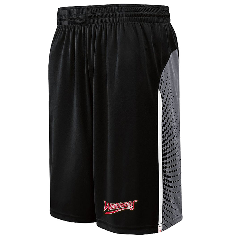 White Marsh Warriors Comet Shorts-Black