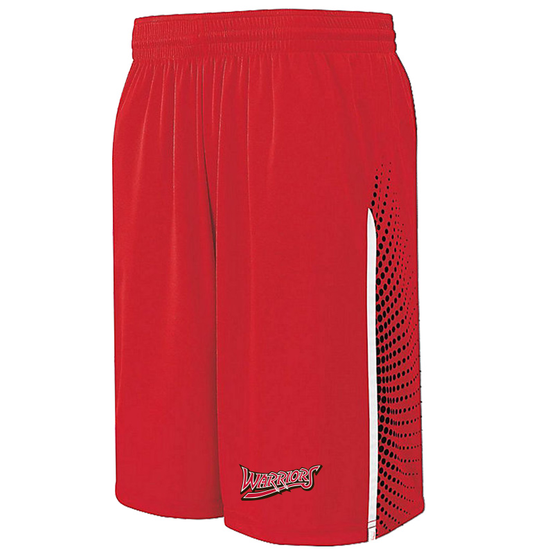 White Marsh Warriors Comet Shorts-Red