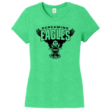 Eagles Nest Swim Team  District Made Ladies Perfect Tri Crew Tee