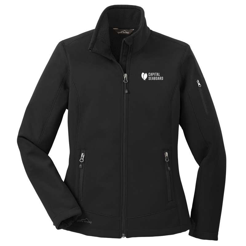 Capital Seaboard Eddie Bauer Ripstop Soft Shell-Black