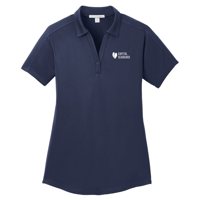 Capital Seaboard Diamond Jacquard Polo - Womens-TrueNavy