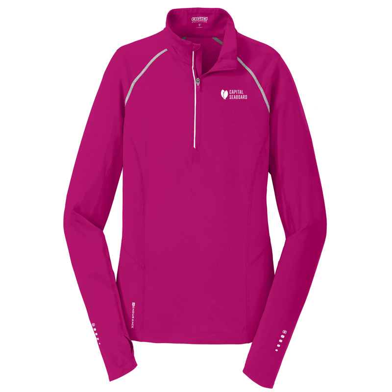 Capital Seaboard Nexus 1/4 Zip Womens-FlushPink