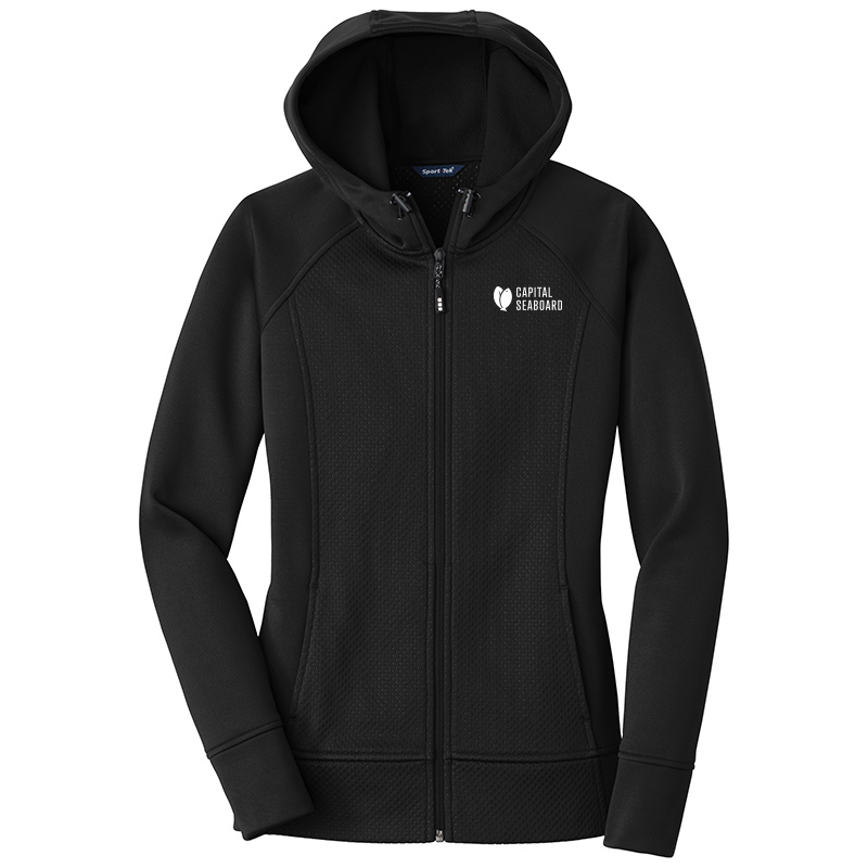 Capital Seaboard Sport Tek Full Zip Hooded Jackets Womens-Black