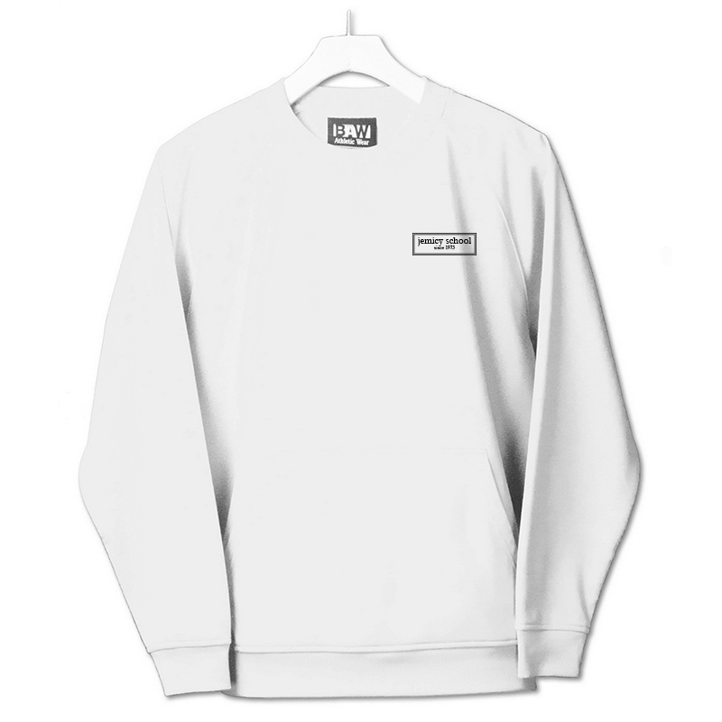 Jemicy EST. Baw Youth Crewneck Sweatshirt  - White