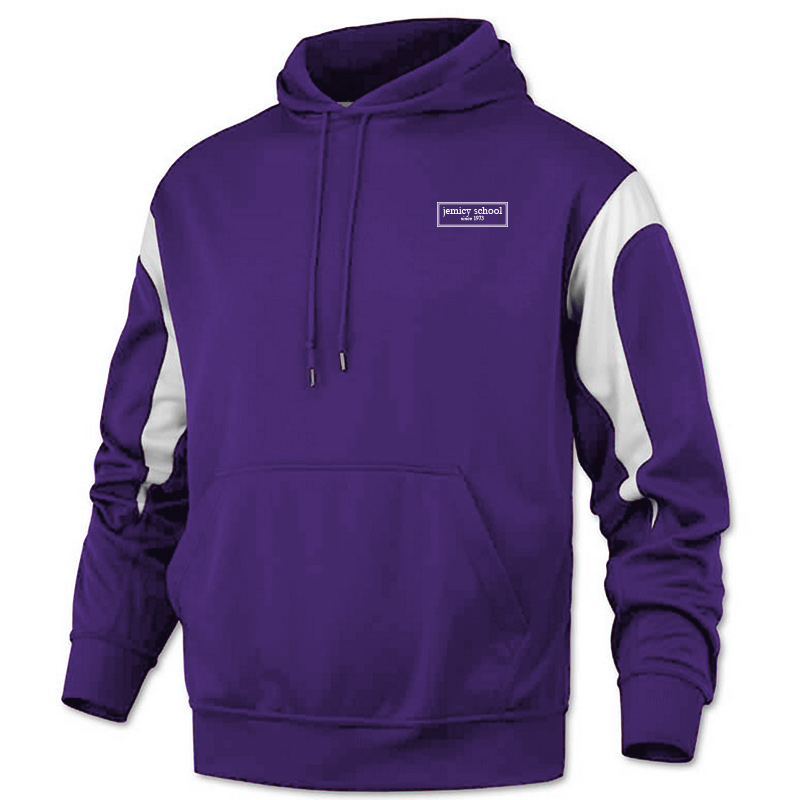 Jemicy EST. Baw Adult Color PanelPullover Sweatshirt - Purple