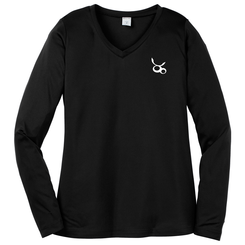 Jemicy LC Sport-Tek® Dry Zone® Ladies Long Sleeve Raglan T-Shirt - Black