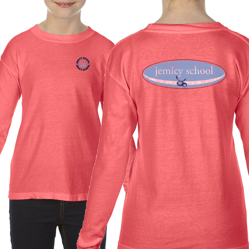 Jemicy Surf Youth  Long Sleeve T-Shirt - Neon Red Orange