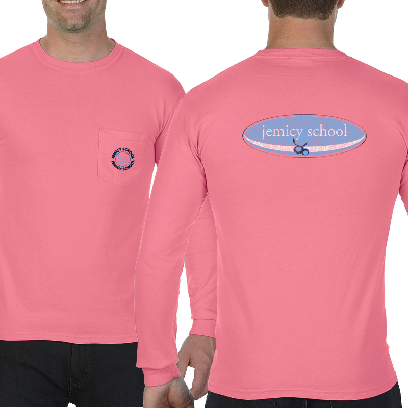 Jemicy Surf Adult  Long Sleeve Pocket T-Shirt - Peony