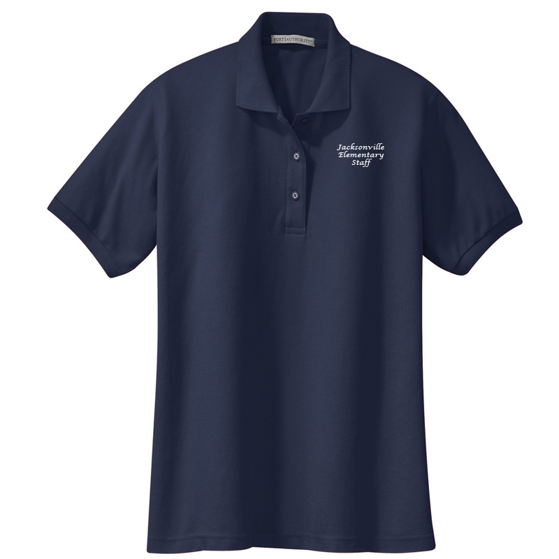 JES  Ladies Silk Touch Polo - Navy