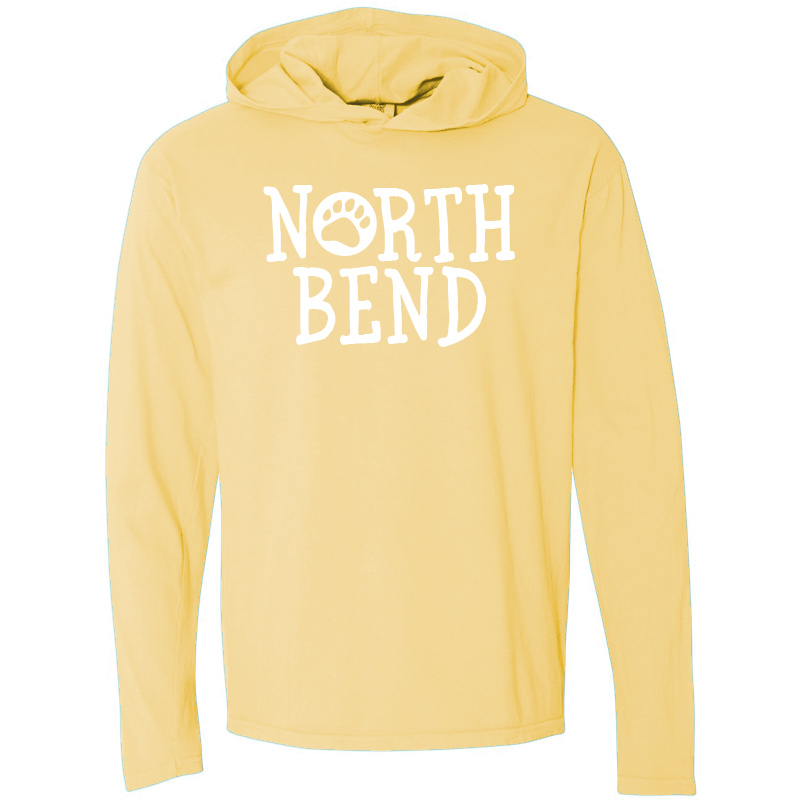 North Bend Long-Sleeve Hooded T-Shirt - butter