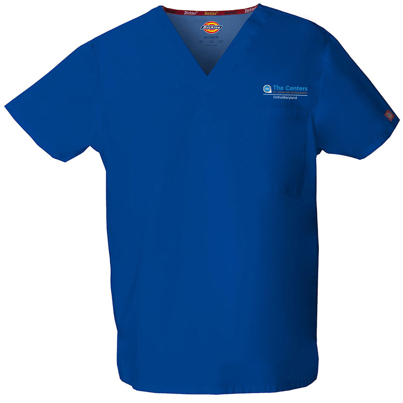 CAO OrthoMaryland Men's Scrub Top - Royal Blue