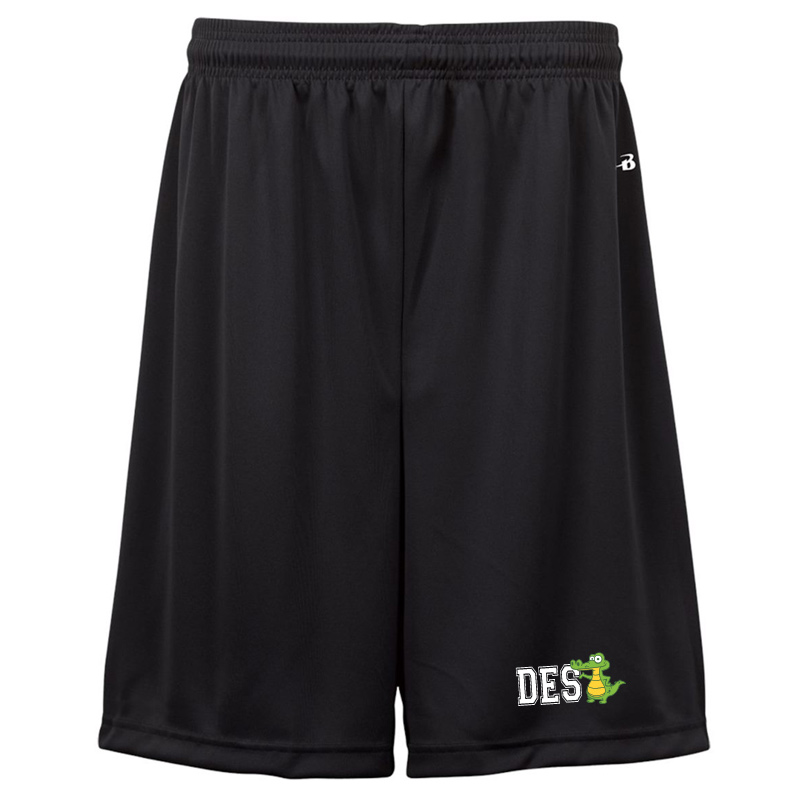 "DES DES with Gator B-Dry Youth 6"" Shorts -Black"