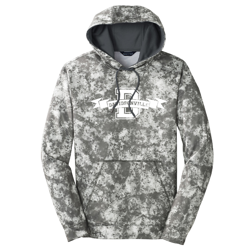 DES Davidsonville Banner  Sport-Wick® Mineral Freeze Fleece Hooded Pullover-Dk smoke