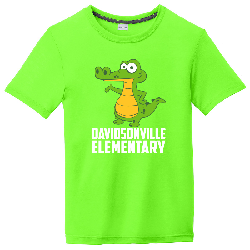 DES MAGNET DESIGN Youth Competitor Cotton Touch Tee-neon green