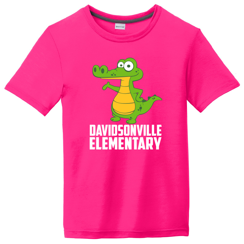 DES MAGNET DESIGN Youth Competitor Cotton Touch Tee-Neon pink