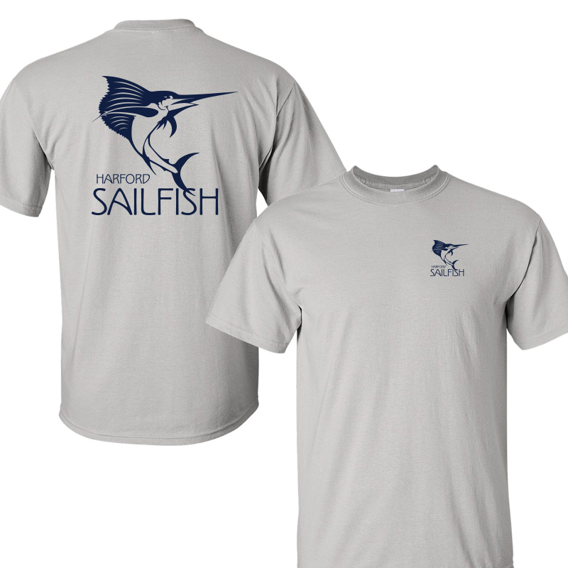 Harford Sailfish 100% Cotton Basic Tshirt - Ice Grey