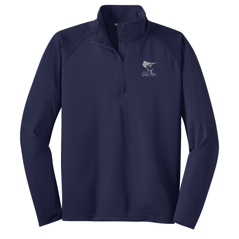 Harford Sailfish Mens Sport-Wick® Stretch 1/2-Zip Pullover - Navy
