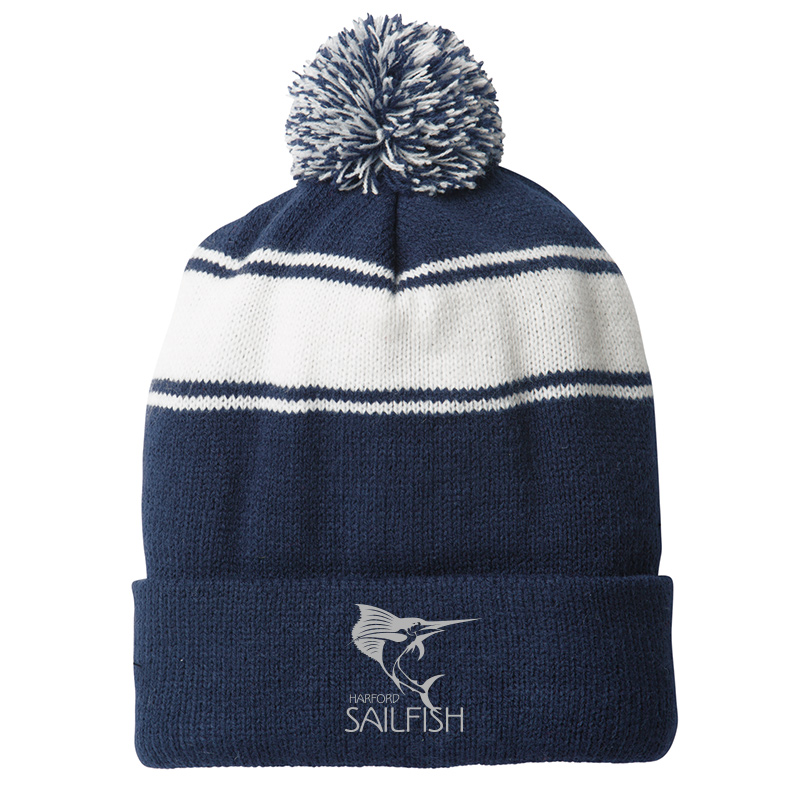 Harford Sailfish Pom Pom Beanie - Navy