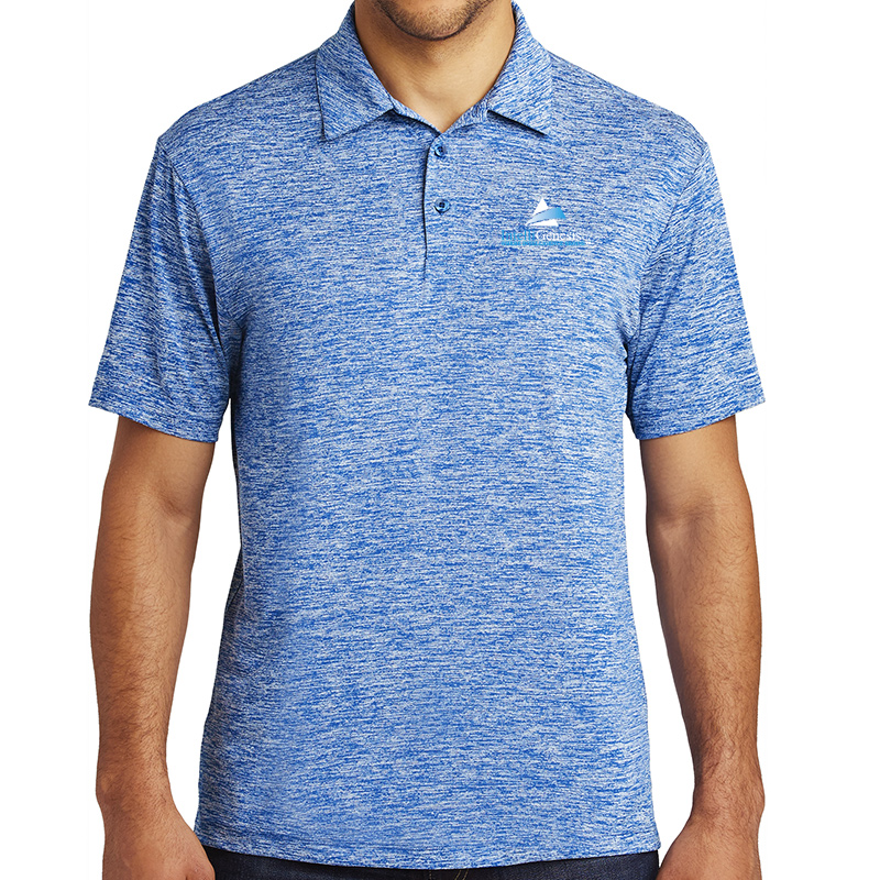 IntelliGenesis Sport Tek Posi Charge Electric Heather Polo - True Royal Electric