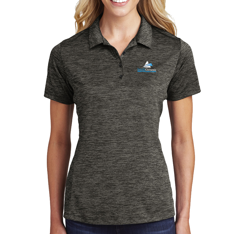 IntelliGenesis Sport Tek Ladies Posi Charge Electric Heather Polo - True Royal Electric