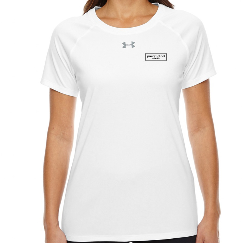 Jemicy EST.  Under Armour Ladies' Locker T-Shirt -  White