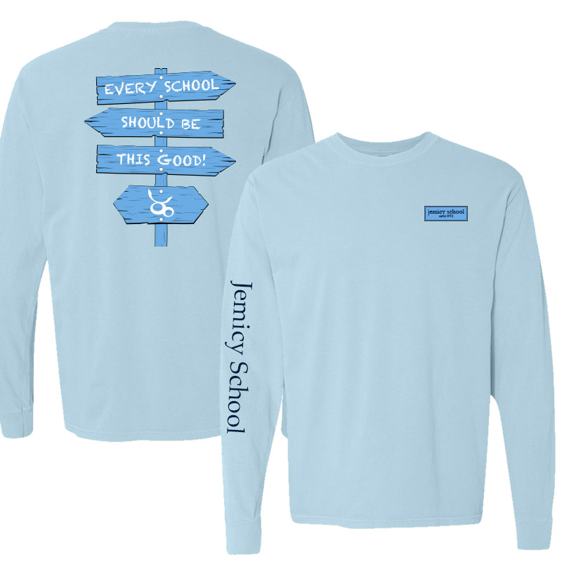 Jemicy Comfort Colors Long Sleeve Pocket Adult - Chambray