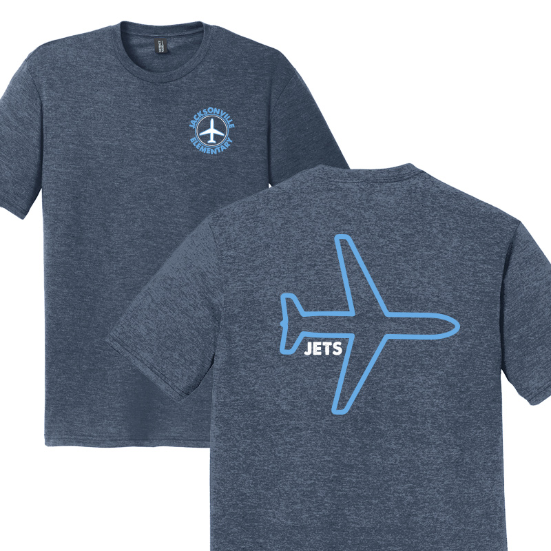 JES Plane Adult Short Sleeve - Navy Frost