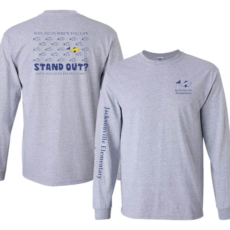 JES Standout Youth Basic Long-Sleeve Tshirt - Sport Grey