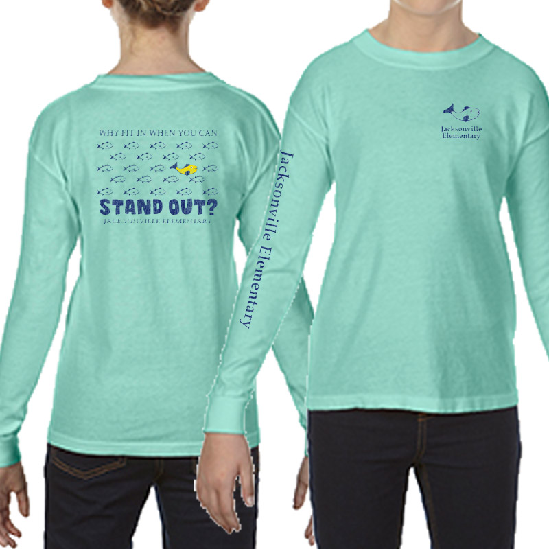 JES Standout Youth Long-Sleeve T-Shirt - island reef