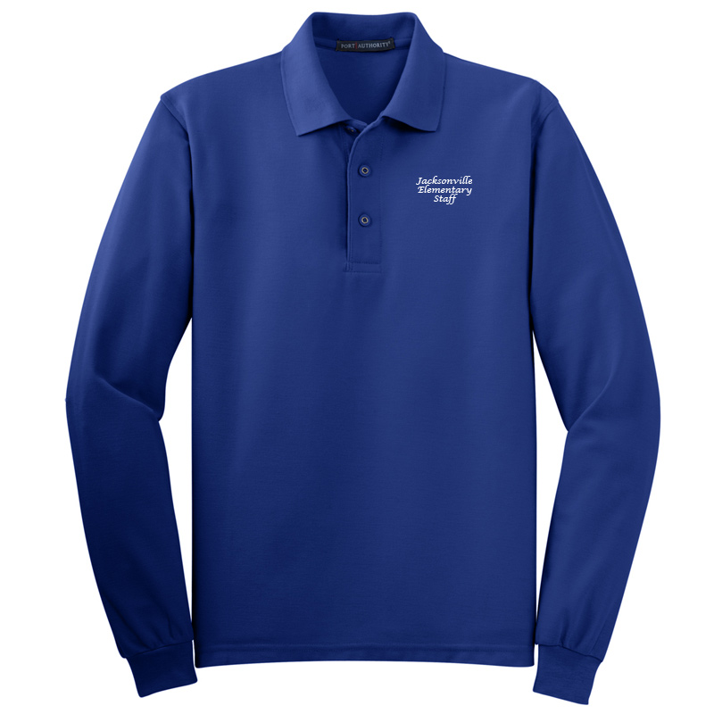 JES  Silk Touch™ Long Sleeve Polo Polo - Royal