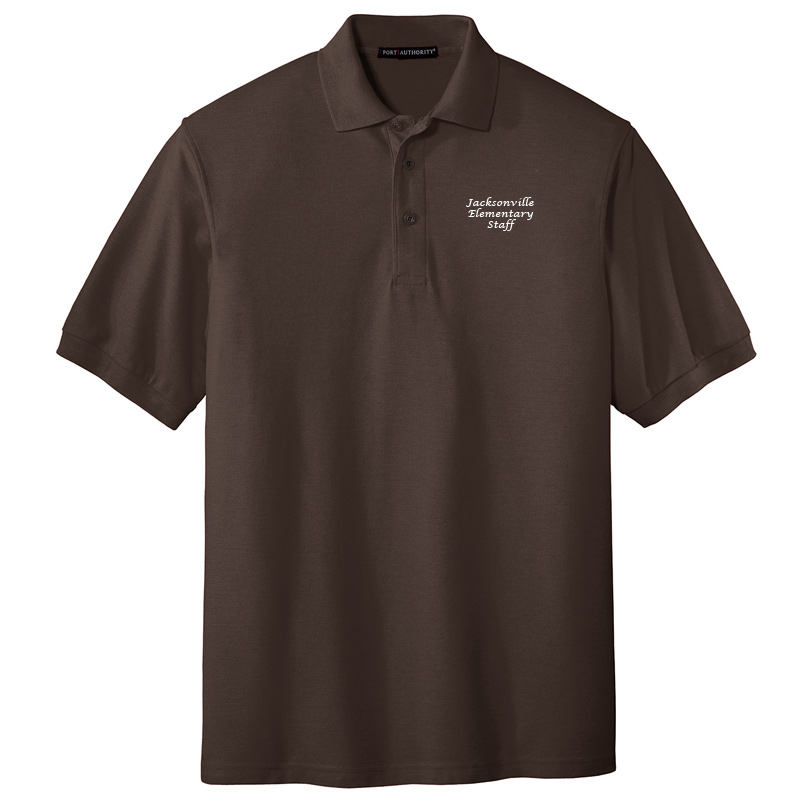 JES  Silk Touch Polo - Coffee Bean