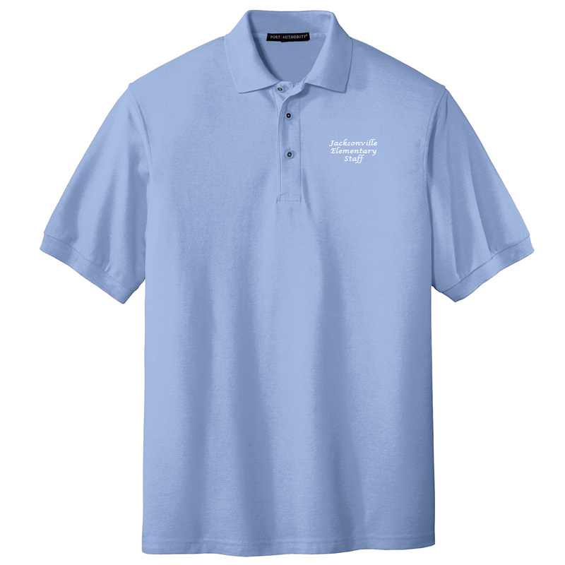 JES  Silk Touch Polo - Light Blue