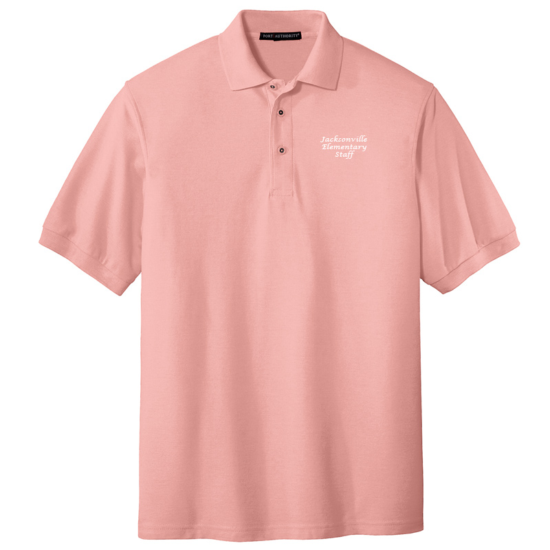 JES  Silk Touch Polo - Light Pink