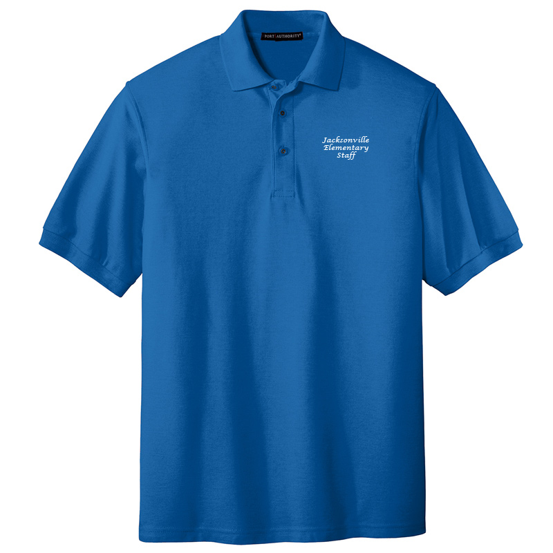 JES  Silk Touch Polo - Strong Blue