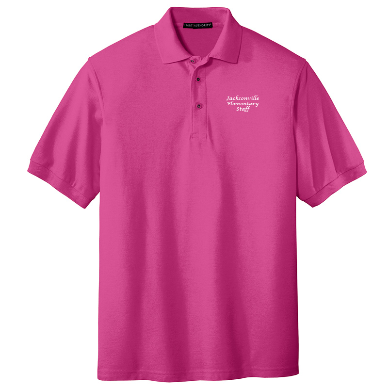 JES  Silk Touch Polo - Tropical Pink